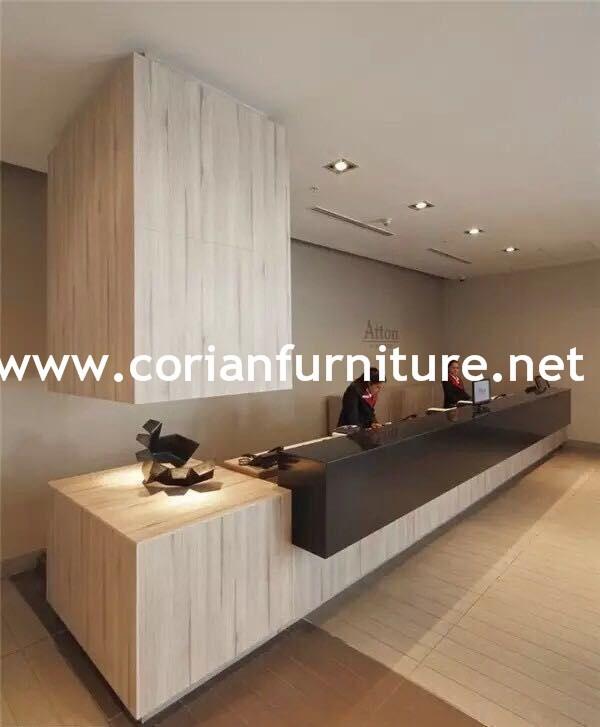 Modern design acrylic solid surface Hi macs surfaces Office reception desk