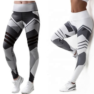 Sublimation printing fitness wear leggings girls tight pants custom yoga pants