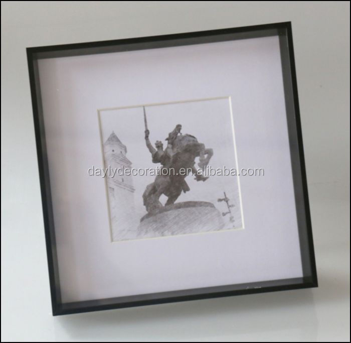 Lightweight Shadow Box Frame Ideas 23x23 Square Wooden Finish Shadow ...