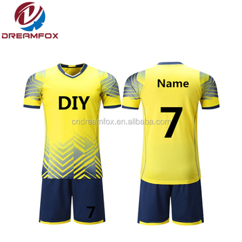 ecb37c7e5 High quality custom sublimation Brazil football jerseys pattern Free design  uniforms and wholesale taiwan soccer uniform