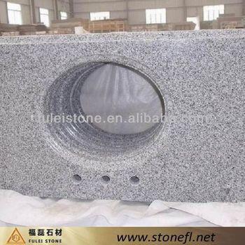 High end cheap granite bathroom vanity tops silver grey - Discount granite bathroom vanity tops ...
