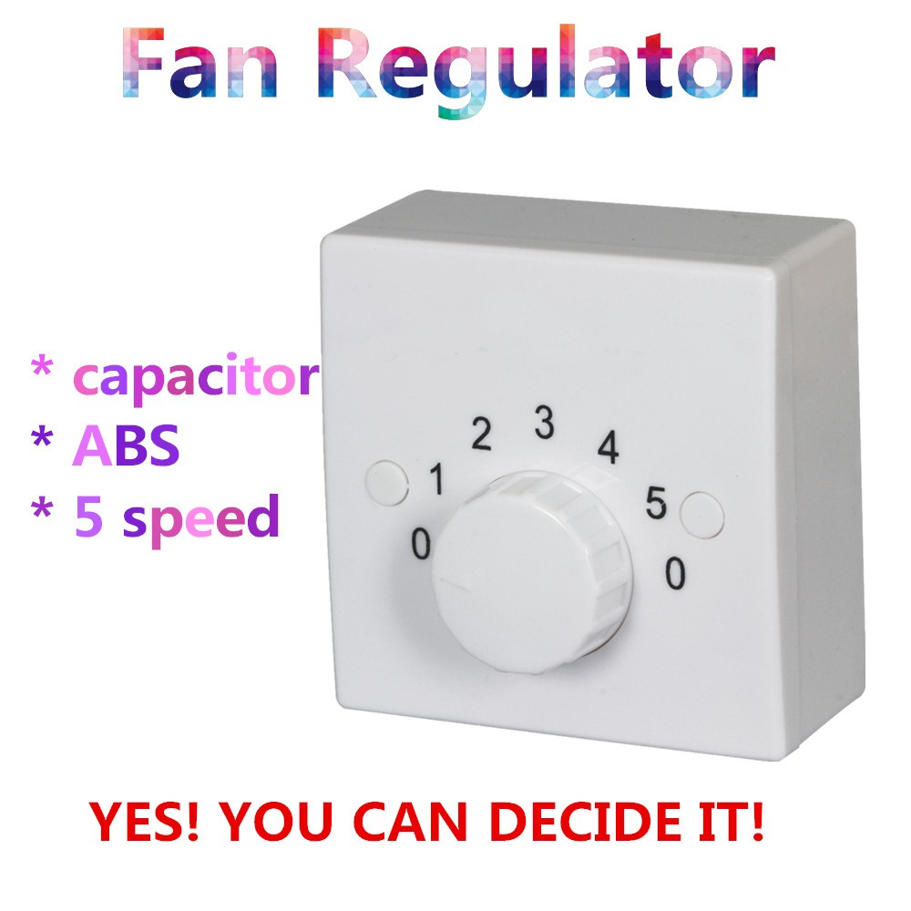 5 Speed Square Shape Parts For Ceiling Fan Capacitor