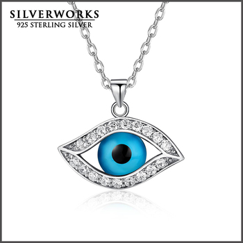 Wholesale new fashion 925 sterling silver turkish evil eye necklace wholesale new fashion 925 sterling silver turkish evil eye necklace pendants necklace mozeypictures Images