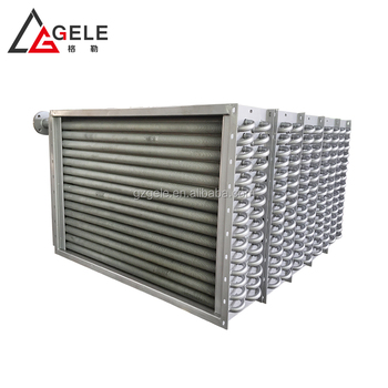 Hot Fluid Stainless Steel and Aluminium fins Air Heating Exchanger Coils System for Dry Kiln
