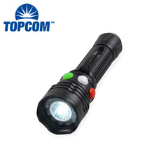 Aluminum LED Flashlight Magnetic Red Green White 3 Color Changing LED Signal Torch