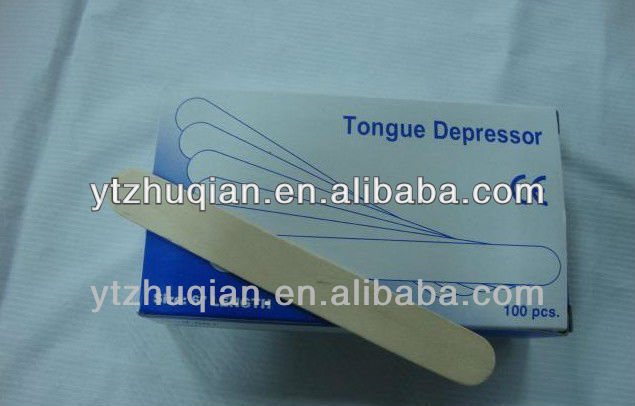 Professional manufacturer hospital birch sterile natural wooden tongue depressor