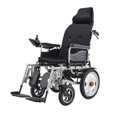 Cheap top quality lightweight folding medical reclining power electric wheelchair for old people