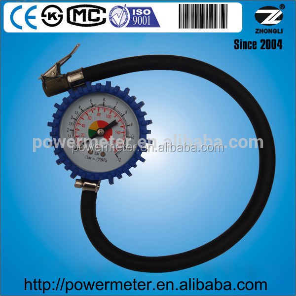 motorcicle pressure gauge 63mm face plastic cover with rubber 12 bar