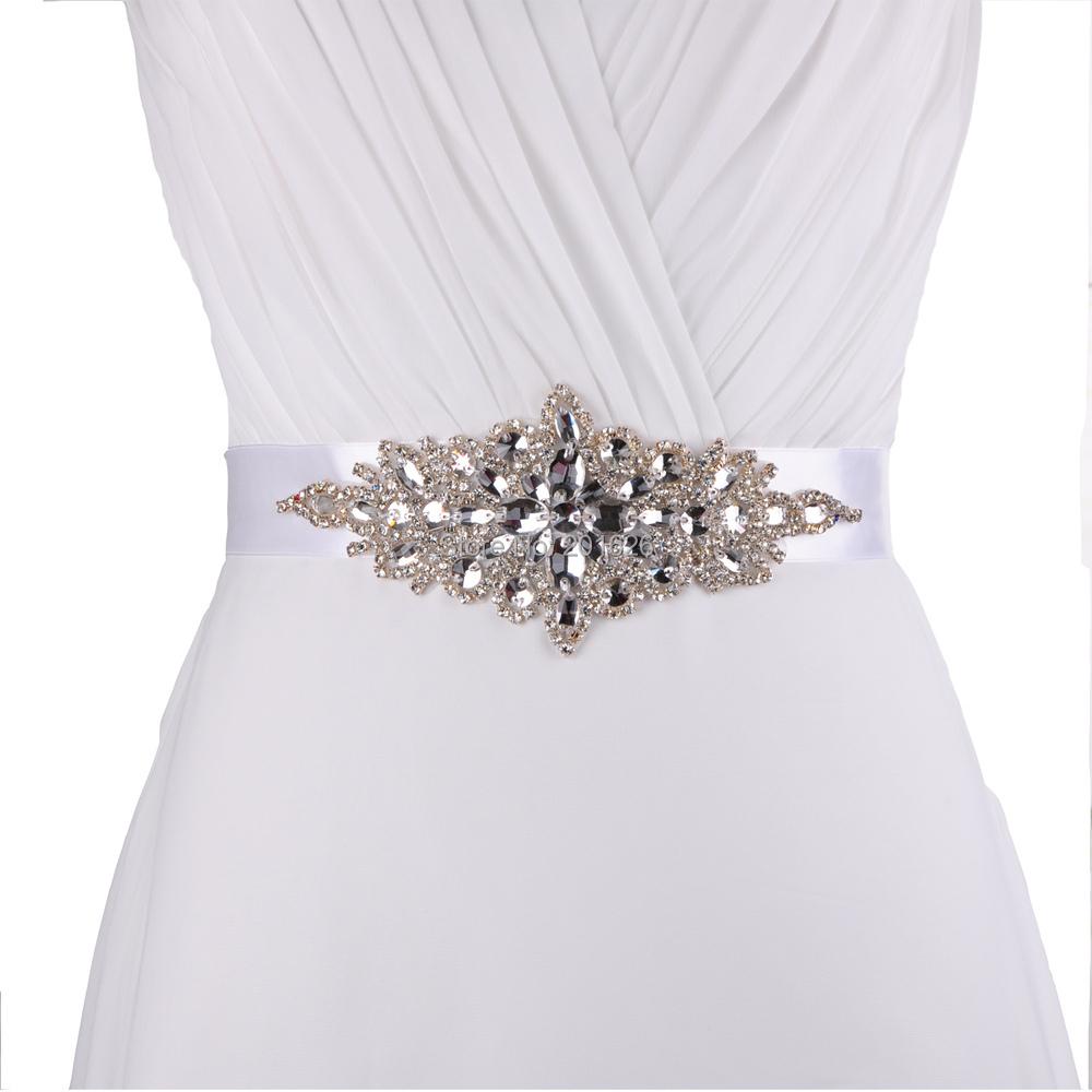 Unique Wedding Dress Sashes Belts: TOPQUEEN S01cheap Designer Belts Rhinestone Bridal Belt