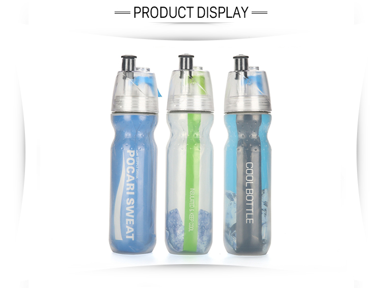 Bpa gratis plastic spray sport drinkwater fles 500 ml