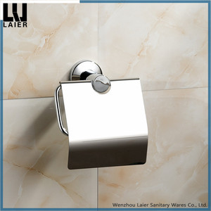 304 stainless steel Toilet Paper Holder with Cover toilet paper holder with shelf