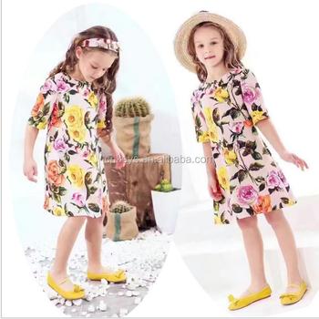 E0003a New Posh Baby Girl Dress Lemon Pattern Ruffle Sleeve Backless