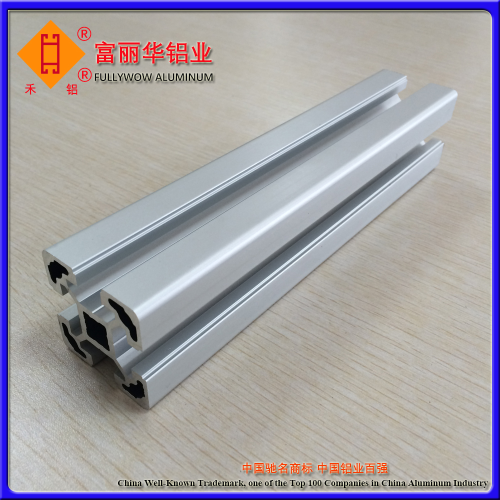 Silver Anodized or Powder Coated Standard Aluminium Profiles 4040 for Machines