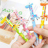 Creative colorful plastic ball-point pen