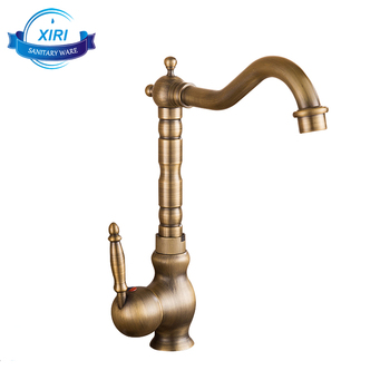 Bathroom Taps Antique Brass Mixer Tap Kitchen Sink Faucet With ...