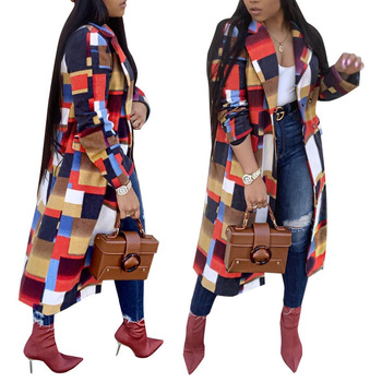 81129-MX47 fashionable printed long parka ladies winter coats