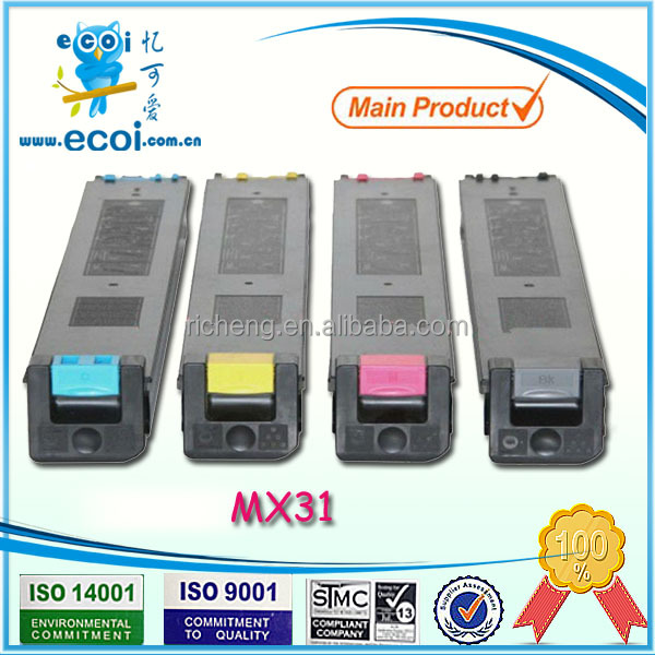 for sharp mx31 high quality copier toner machine