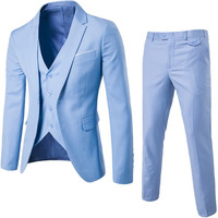 Fashion Mens Gentleman Slim Fit Blazer Suits