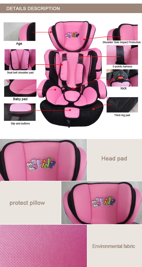 Kids Safety Car Seat 4 Colors Baby Racing