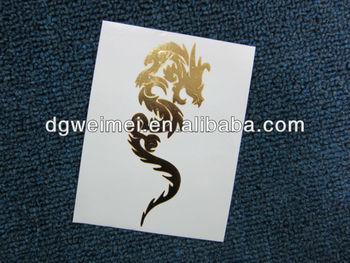 Tribal Dragon Design Gold Hand Temporary Tattoos Buy Dragon