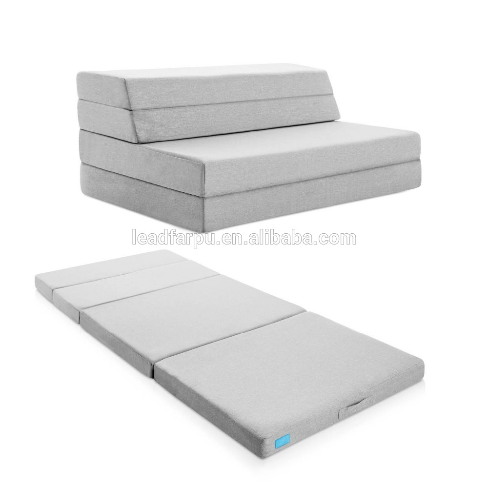 Thrid Fold Foam Folding Mattress and Sofa Bed for Guests or Floor Mat