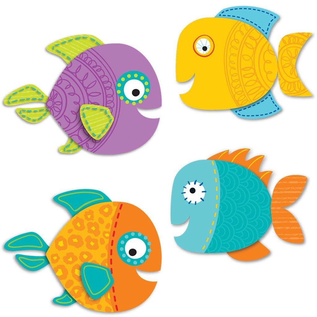 Carson Dellosa Fish Mini Cut-Outs (120199)