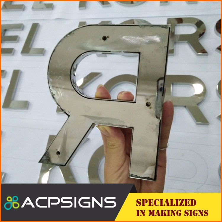 outdoor waterproof metal acrylic marquee letters large alphabet letters stainless steel letter sign