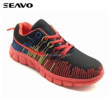 SEAVO SS17 newest innovation embroidery mesh upper design no name lowest price red men running shoes
