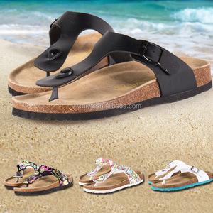 13c3a6247b6 MY-032 2018 New Flip Flops Summer Cork Slipper Woman Flats Sandals Antiskid  Slippers Beach