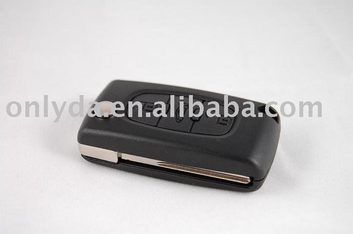 Peugeot 407 Flip Key Case Auto Key Shell With Led Light Button ...