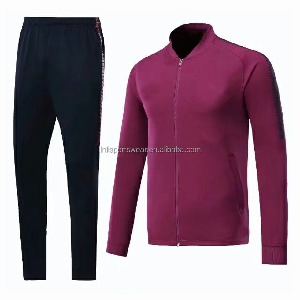 Wholesale 2017-2018 Mans Thai quality Purple Soccer Jacket, City Fashionable jacket sets