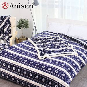 China winter warm polyester fabric print duvet cover bed sheet king size coral fleece bedding set