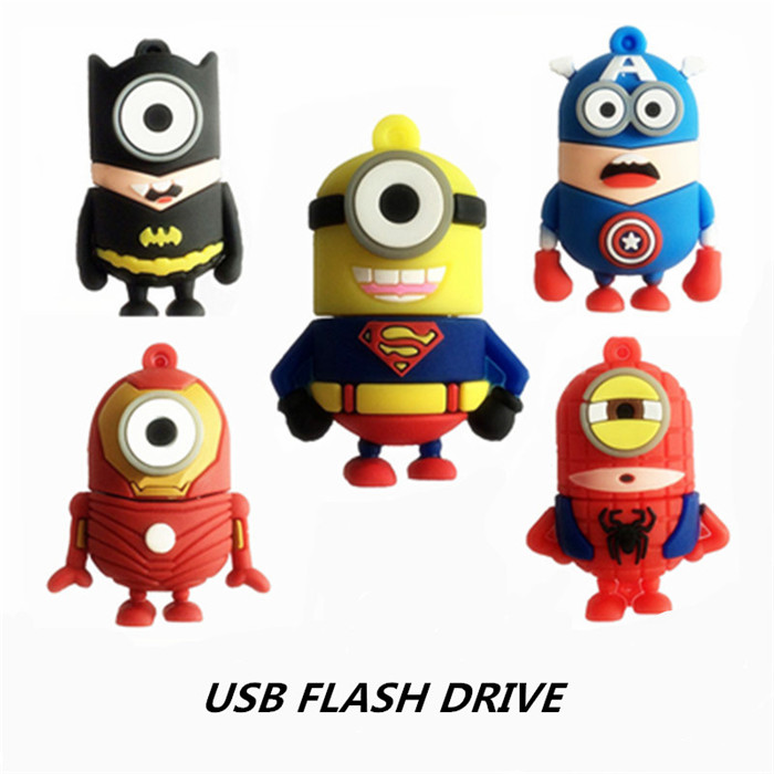 <strong>USB</strong> Flash Drive Pen Drive Minions 64GB 32GB 16GB 8GB 4GB The Avengers Pendrive <strong>USB</strong> 2.0 Cute Cartoon Despicable Me Memory U Disk