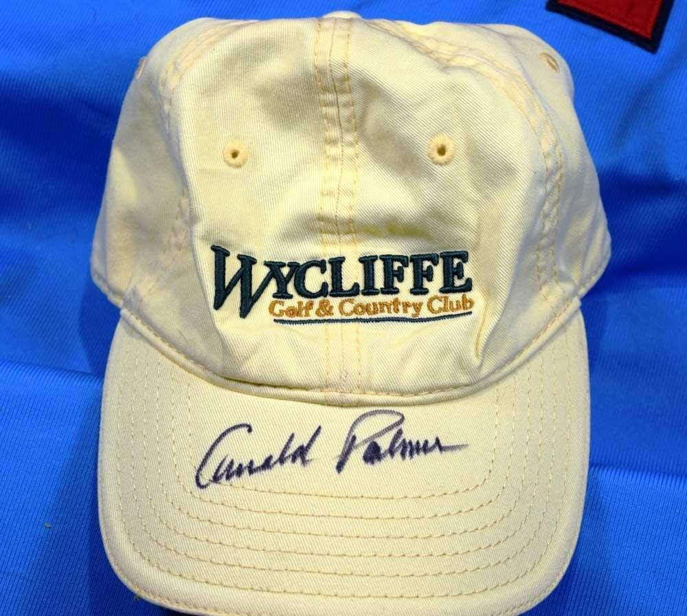 ec398ff76f70f3 Get Quotations · ARNOLD PALMER SigneD COA GOLF HAT Authentic Autographed -  JSA Certified - Autographed Golf Hats and