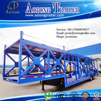 Aotong brand vehicle transporting car hauler / 5 car carrier semi trailer for sale