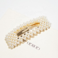 Fashion New Design Pearl Hair Clip Pearl Head Wear Accessories for Women Girls Gift Bow Hair Clip Handmade Jewelry