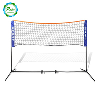 2017 best selling protable indoor and outdoor portable badminton net with poles stand post