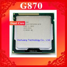 Lifetime warranty Pentium G870 3.1GHz 3M Dual Core desktop processors CPU 870 Socket LGA 1155 pin Computer