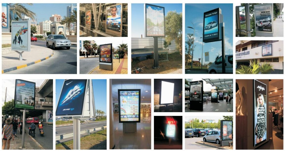 product-Excellent quality outdoor solar panel advertising light box with trash bins-YEROO-img-6