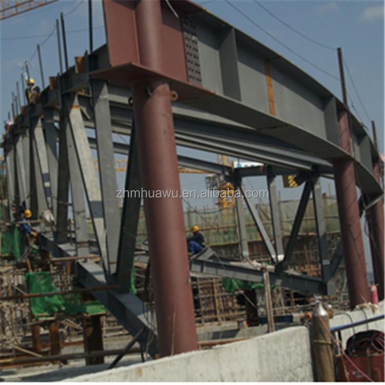 China prefabricated aluminium large span steel space structure frame