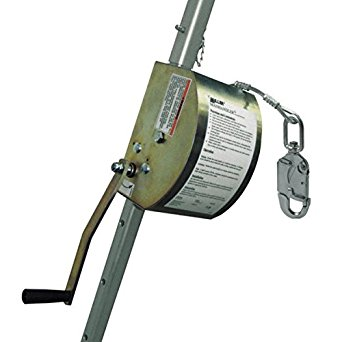 """MILLER BY HONEYWELL 8442-Z7/65FT 65' Man Handler Personnel-Rated 3/16"""" Galvanized Steel Wire Rope Hoist,20.5"""" Height, 7"""" Width, 10"""" Length"""