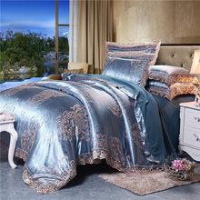 Домашний Комплект постельного белья в Европейском стиле, жаккардовый пододеяльник, 3/4 предмета, кружевное постельное белье, Свадебный подо...(Китай)