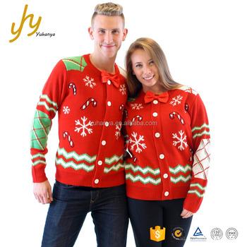 Lelijke Kersttrui.Hot Koop Aangepaste Counple Vest Jacquard Groothandel Lelijke Kerst