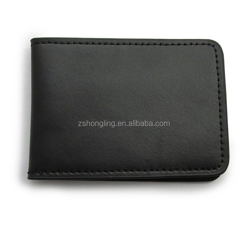Full-grain leather upper card pouch