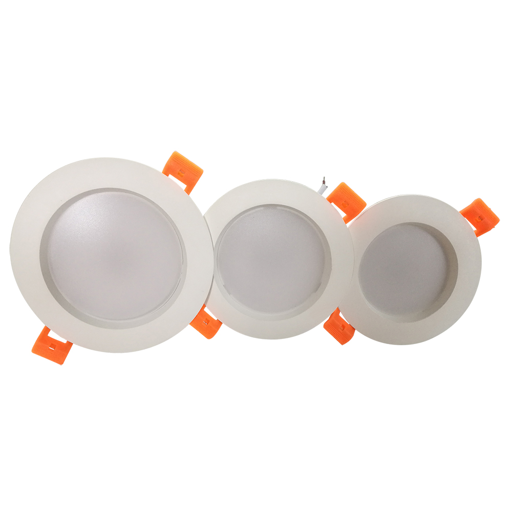 Commerci all'ingrosso 2.5 pollici 3 pollici 4 pollici 5 w 7 W 9 W 12 W incasso in plastica rotondo ha condotto il downlight per uso domestico