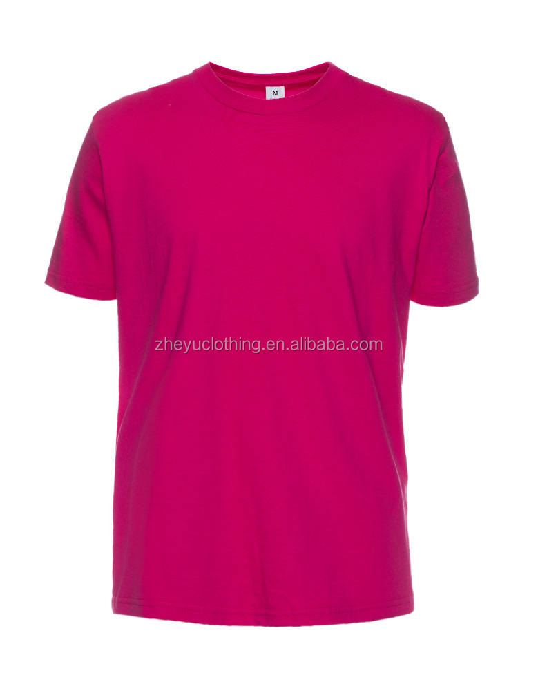 China wholesale high quality cotton plain blank tee shirt