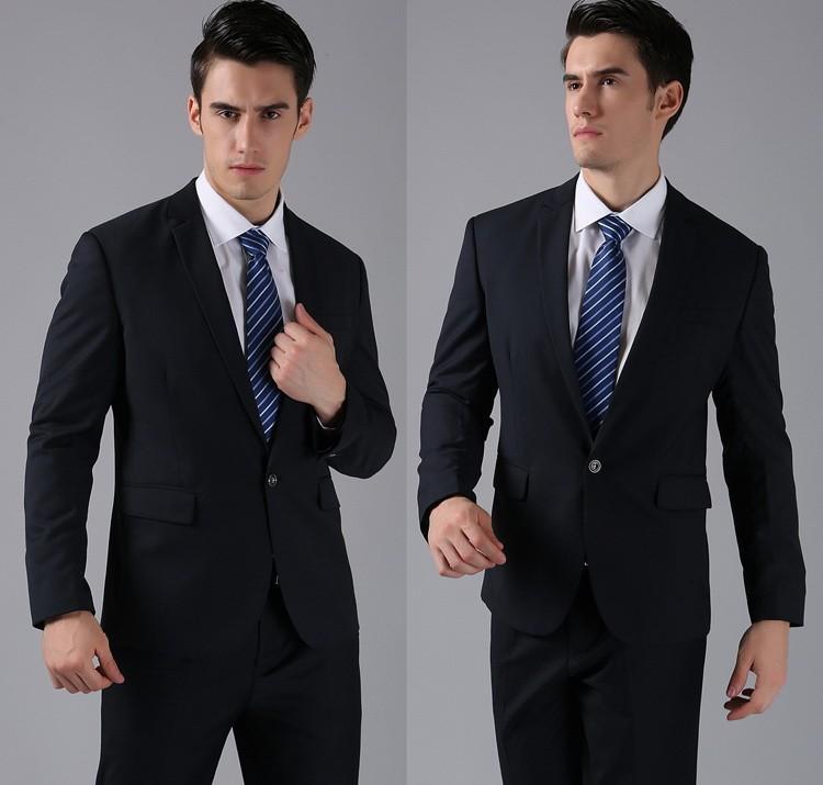 (Kurtki + Spodnie) 2016 Nowych Mężczyzna Garnitury Slim Fit Niestandardowe Garnitury Smokingi Marka Moda Bridegroon Biznes Suknia Ślubna Blazer H0285 35