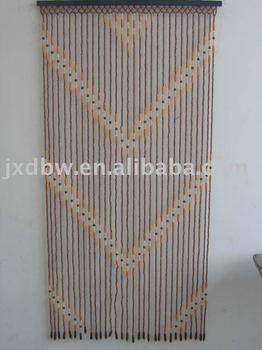 Cheap Hanging Door Beads Diamond Design Wooden Beaded Door Curtains
