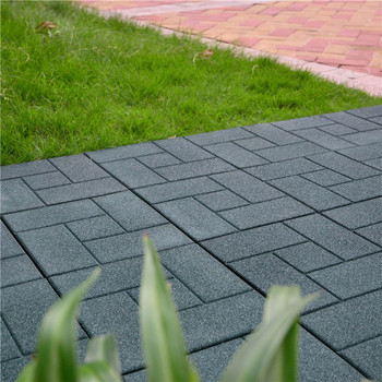 Non Slip Outdoor Rubber Patio Flooring Tiles