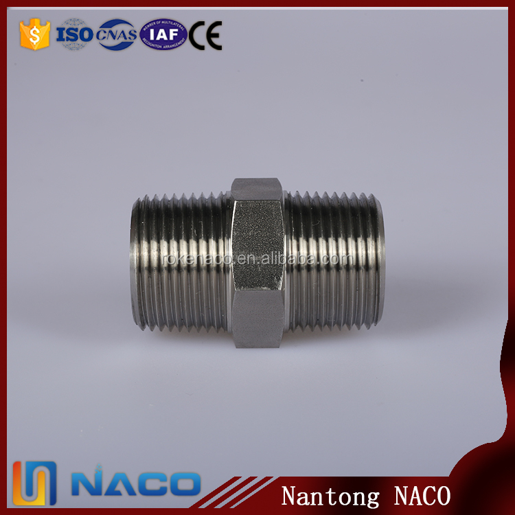 150lb Stainless Steel Barrel Nipple Pipe Fitting Ss 304 / 316 Fittings And Couplings